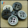 Natural 4 Holes Black Trocas Shell Button for Sweater