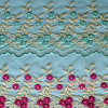 Beautiful Multi Color Gold Thread Lace Fabric for Dress