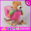 Wooden Balance Rocking Toy, Popular Wooden Plush Rocking Toy, Giocattolo a Dondolo, Wooden Rocking Bear Toy, Rocking Toy W16D076