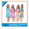 Girls Printed Sexy Triangle Bikini with Beach Shawl