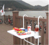 Balcony Railing Table with Cup Holder