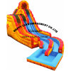 Yellow Symphony Double Lane Water Slide Inflatable