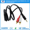 Gold Plated DC 3.5 to 2RCA Stereo Audio Video Cable