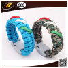 Fashion Letters Woven Paracord Survival Bracelet with Fire Starter Buckles (HJ6214)