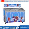 Curved Glass Door Chest Freezer Showcase