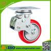 Heavy Duty Swivel Galvanized Caster PU Cast Iron Wheel