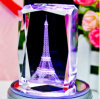 K9 Crystal 3D Laser Engraving Crystal Glass Eiffel Tower
