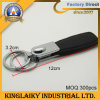 Customized High Classic Leather+Metal Krychain for Gift (KKC-018)
