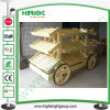 Wooden Display Bread Car for Store and Supermarket