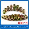 Zinc Plated Steel Hex Socket Furniture Insert Nuts for Wood