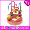 2015 Mini Around Beads Wire Maze Educational Game, Labyrinth Kid Wooden Bead Maze Toy, Mini Wooden Bead Maze Wholesale Toy W11b064