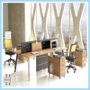 Design Melamine Top White Office Wooden Staff Table