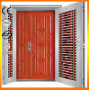 High Quality Double Gate Steel Wooden Security Door
