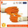 Ddsafety 2017 Orange Latex Crinkle Finished Cotton Liner Working Glove