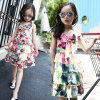Girls Sleeveless Dress Lace Chiffon Princess Dress