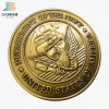 Custom Brass Antique Gold Navy Military Challenge Medallion Souvenir Coin