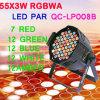 55X3w RGBWA LED PAR 64 Wedding PAR Light (QC-LP055)