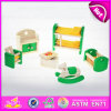 2015 New and Popular Wooden Mini Doll House Furniture Sets Toys, Solid Wood Mini Furniture Toy for Children Playing House W06b028