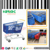 Powder Coating Plastic Shopping Trolley Cart for Supermarket
