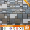 Clubs White Color Marble and Cold Spray Glass Mosaic (M855117)