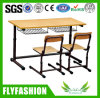 Wooden Double Desk and Chair for Classroom (SF-01D)
