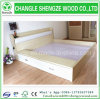 New Design Bedroom Melamine Wooden Bed