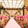 Polyester White Fireproof Wedding Carpet