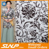 Cotton Linen and Polyester Blue and White Porcelain Printing Fabric