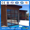 Aluminum Fixed Double Glass Window Wooden Colour
