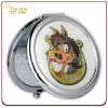 Personalized Gift Printed & Epoxy Logo Round Metal Cosmetic Mirror