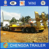 3axles 60-100ton Gooseneck Lowbed Lowloader Semi Truck Trailer Factory Sales