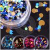 Colorful Polyester Glitter DIY Decoration Nail Laser Paillette Flakes