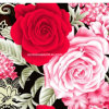 100%Polyester Peony Hook Flower 3D Disperse Printed Fabric for Bedding Set