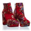 Chunky Block Heel Platform Bootie Faux Fur Inner Lining Women Shoes
