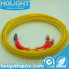 Fiber Patchcord LC to St 90 Degree Boot Duplex Singlemode Yellow