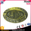 3D Metal Reised Dubai Building Shape Antique Bronze Metal Belt Buckle