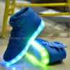Autumn and Winter LED Shoes Light Flash Charging USB Mesh Breathable Children Shoes Light Wings