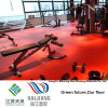 Indoor Red Gym Vinyl Sports Floor Gem Pattern Roll 4.5mm