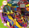 Trampoline Indoor Playground for Sale Kids Castle and Fiberglass Slide