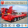 3-Axles Lowbed/Lowboy Semi Trailer with Packing Show