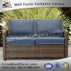 Well Furnir Wf-17129 Wicker Loveseat with Cushions