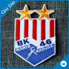 Five Star with Flag Embroidery Patch for Apparel Fabric