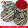 4 Inch Diamond Magic Tape Resin Dry Polishing Pads for Stone