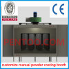 Saving Space Manual Powder Coating Booth for Complex Workpieces