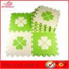 Green Flower EVA Mat White Flower Mat