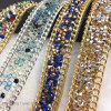 Rhinestone Sheet Rhinestone Transfer Crystal Mesh Design Strip (TS-018)