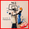 Ay1940 Basketball Dunk Waterproof PVC Decoration Wall Sticker
