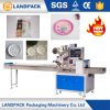 Automatic Flow Horizontal Disposable Paper Cake Plates/Dish Pillow Packing Machine