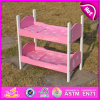 2015 Cute Wooden Doll Furniture Doll Bunk Bed, Lovely Wooden Toy Doll Ring Bed, Hot Sell Cheap Baby Wooden Bunk Doll Bed W06b023