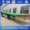 Tri Axle 40 Foot Flatbed Container Semi Trailer for Sale